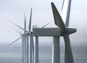 Siemens' SWT 3.6 MW 107 wind turbines at Burbo Banks offshore wind farm.