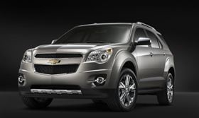 February retail sales of GM's newest crossovers— including the Chevrolet Equinox, shown here—were up 198% compared to the vehicles they replaced.