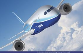 The GEnx engine will power the Boeing 787.