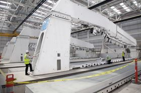 The semi-automated production jigs being installed as part of Phase 2 activity will enable drilling and other operations to be carried out on CSeries wings.