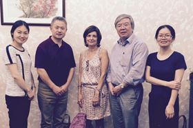 Left to right: Lisa Zhang, Elsevier; Prof. Hau-Xin Peng, Zhejiang University; Dr Christiane Barranguet, Elsevier; Dean Gaorong Han, Zhejiang University; Prof. Xuxia Yao, Zhejiang University.