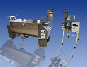 Charles Ross' ribbon blenders for multi-phase mixing now come with an optional pressure feed vessel.