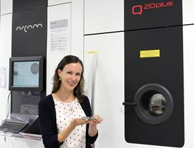 Materials scientist Dr Inge Lindemann at Fraunhofer has been researching how to use powder technologies.