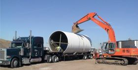 Low weight eases installation of the Denver sewer pipe.