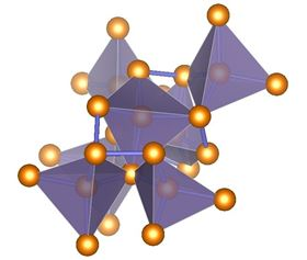 This is an illustration of ST12-germanium's complex tetragonal structure with tetrahedral bonding. Image: Haidong Zhang.