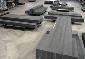Blocks of coal-based CFOAM® are bonded together prior to being machined to produce composite tools.