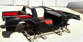 EPIC's composite body for the DeLorean electric vehicle.