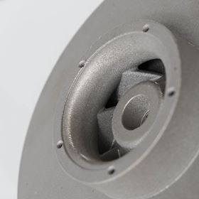One project focuses on ensuring that metal spare parts and components such as this impeller are according to specifications.