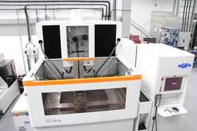 The new EDM system is faster than the centre's original and can cut through much larger pieces of metal.