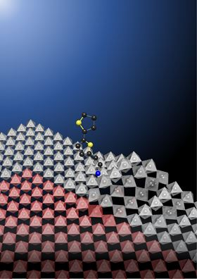 Adding a bulky molecule to the surface of a perovskite might finally make the material stable enough for incorporating into solar panels. Image: Purdue University illustration/Enzheng Shi.