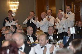 Celebrating a win at the Composites UK awards dinner in 2015.