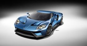 The new Ford GT, a lightweight aerodynamic vehicle which makes extensive use of carbon fiber parts.
