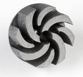 An impeller made using Nanosteel's range of PM for 3D printing.