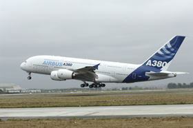 The Airbus A380, featuring more than 20% composite content, has been in operation since 2007. (Picture © Airbus/P. Masclet.)