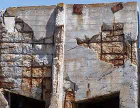 An abandoned building on Northern California's McAbee Beach shows the destructive power of corrosion on a steel-reinforced concrete structure. A new NIST evaluation method using terahertz waves can detect the early stages of corrosion on steel rebars directly through their concrete covering. Photo: with permission by Per Loll, Denmark.