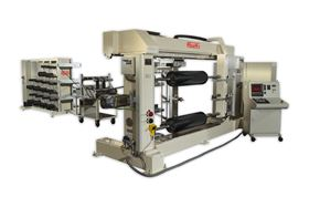 Roth's filament winding machine. (Photo courtesy Roth Composite Machinery.)