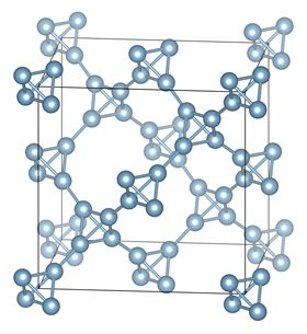 This illustration shows the diamond-like structure of the new, metastable, ultra-light crystalline form of aluminum. Image: Iliya Getmanskii, Southern Federal University, Russia.