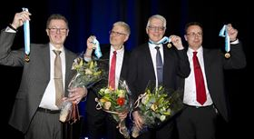 From left, Thomas Lewin, Bo Jönsson, Roger Berglund and Krister Wickman.