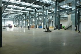 The production space prior to installation of equipment.