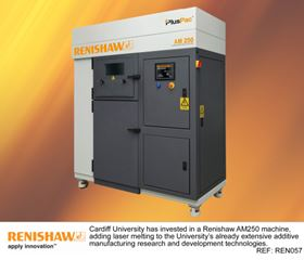 Cardiff University has invested in a Renishaw AM250 3D printing machine.