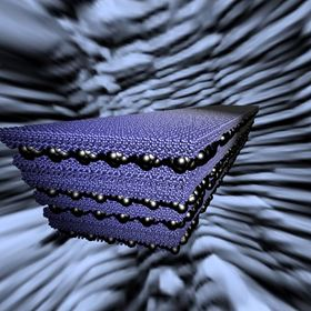 This illustration shows a model platelet-matrix composite in the foreground and nacre, one of nature's toughest materials, in the background. Researchers at Rice University have developed computer simulations to decode natural materials, with the aim of guiding research into synthetic multifunctional composites. Image: Multiscale Materials Laboratory/Rice University.