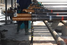 Figure 1: Duoline® D-20 liner being installed in an oilfield tubular by licensee MaxTube.