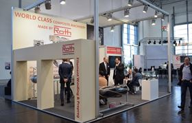 Roth Composite Machinery exhibits at Composites Europe in Stuttgart 2017.
