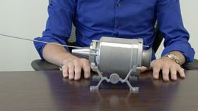 The mini 3D printed jet engine. Image credit: GE Aviation.