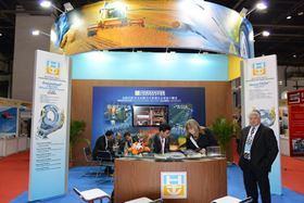 The Hoeganaes stand at PM China.