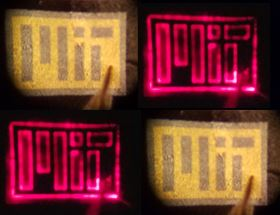 This image shows LEDs grown on graphene and then peeled. Photo courtesy of the researchers.
