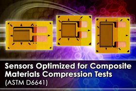 Micro-Measurements has released three CEA-Series strain gages designed to perform standard compression tests on polymer matrix composite materials