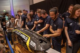 Students at the Technical University of Munich are developing a prototype pod for the Hyperloop transport system.