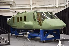 Spirit AeroSystems' first Bell V-280 Valor fuselage. (Photo courtesy PRNewsFoto/Spirit AeroSystems Inc.)