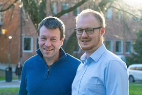 Christian Müller (left) and David Kiefer (right) from Chalmers University of Technology. Photo: Johan Bodell/Chalmers University of Technology.