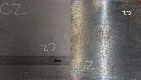 This image shows steel-steel composite metal foam samples before testing (right) and after 100 minutes exposure to 825°C (left). Image: Afsaneh Rabiei, NC State University.