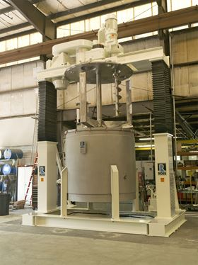 Charles Ross says that it has made improvements to the dual-post hydraulic lift and seal design of its 1,500-gallon PVM-1500 multi-shaft mixer.