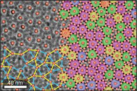 This image shows the non-repeating structure with 10-fold rotational symmetry found in the new quasicrystalline superlattice. Image: Chen lab/Brown University.