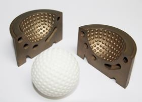 Figure 3c. Golf ball blow mould. DirectTool cavity. Courtesy: Es-Tec, DemoCenter.