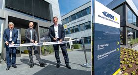 From left: Peter Oberparleiter, CEO of GKN Powder Metallurgy, Thorsten Wieres, plant director (and Guido Degen, president of additive manufacturing. GKN Powder Metallurgy.