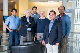 Left to right: Mathew Cherukara, Ali Erdemir, Badri Narayanan, Alexander Zinovev, Anirudha Sumant and Subramanian Sankaranarayanan. Photo: Argonne National Laboratory.