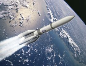 Artist's view of the Ariane 6 four boosters configuration (A64). Photo courtesy ESA.