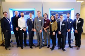 Students and professional winners of the Additive World Design awards.