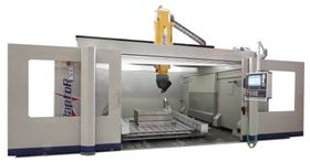 Breton's Raptor 1200/2T machining centre for milling composite materials and aerospace parts.
