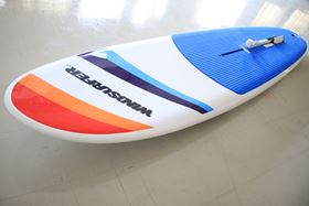 The board can be raced, used for teaching or freestyle and even paddled as a stand-up paddleboard on no wind days.