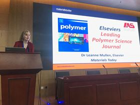 Leanne Mullen presents a talk on Polymer, the sponsor of the Feng Xinde Prize.