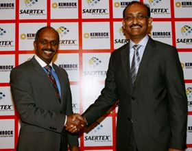 Dr P.K.C. Bose, Managing Director & CEO, SAERTEX India (left) and Kalpesh Patel, Chairman & Managing Director, KEMROCK Industries and Exports Ltd (right).