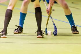 Floorball is an indoor type of floor hockey.