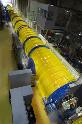 The D11 beamline at the ILL where the neutron scattering experiments were carried out. Image courtesy ILL.