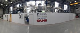 University of Nottingham/Boeing fluidized bed pilot plant for recycling CF.
