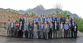 Many famous hardmetal scientists and researchers from around the world can be recognised in this group of attendees at the European Hardmetal Group's open meeting at the 2009 Plansee Seminar. Copyright © Kenneth J A Brookes 2009